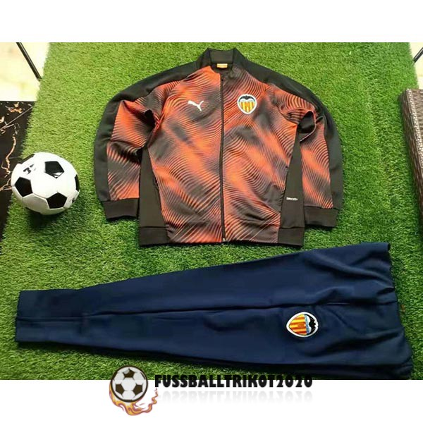 2019-2020 orange schwarz fc valencia prasentaionsjacke
