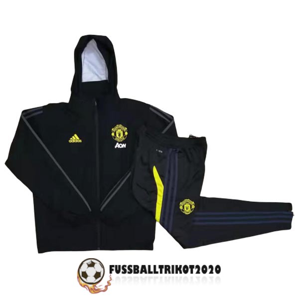 2019-2020 schwarz manchester united windbreaker