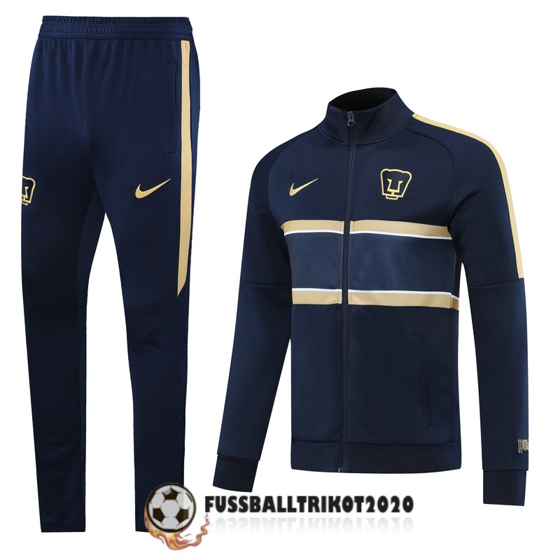 2020-2021 dunkelbalu gold club universidad nacional a.c. prasentaionsjacke