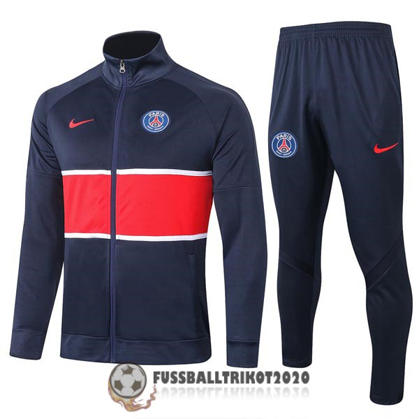 2020-2021 dunkelbalu rot paris saint-germain prasentaionsjacke