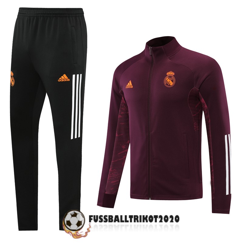 2020-2021 dunkelrot real madrid prasentaionsjacke