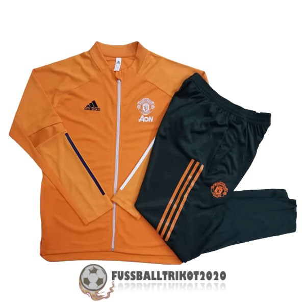 2020-2021 orange manchester united prasentaionsjacke