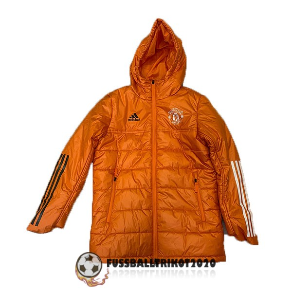 2020-2021 orange manchester united winter jacket