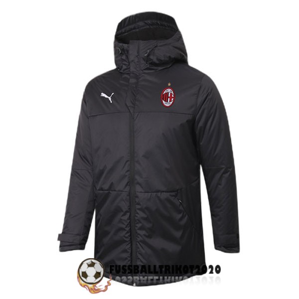 2020-2021 schwarz ac milan winter jacket
