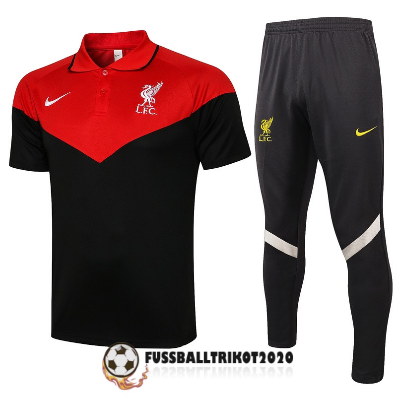 2021-2022 fc liverpool polo kit rot schwarz trainingsshirt