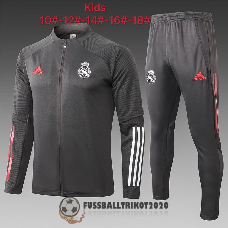 prasentaionsjacke real madrid kinder dunkelgrau 2020-2021