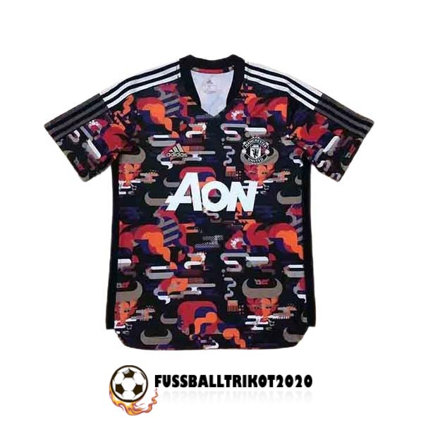 trikot manchester united 2021-2022 tarnkleidung rot orange weib trainingsshirt player version