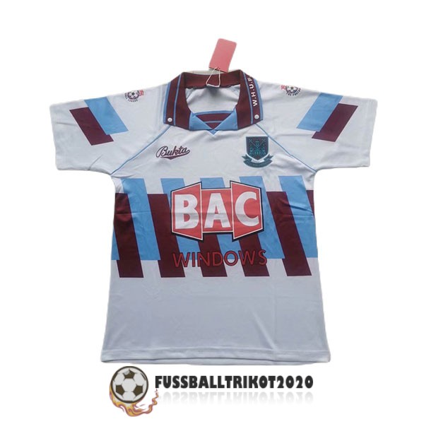 trikot west ham united 1991-1992 alternativ retro