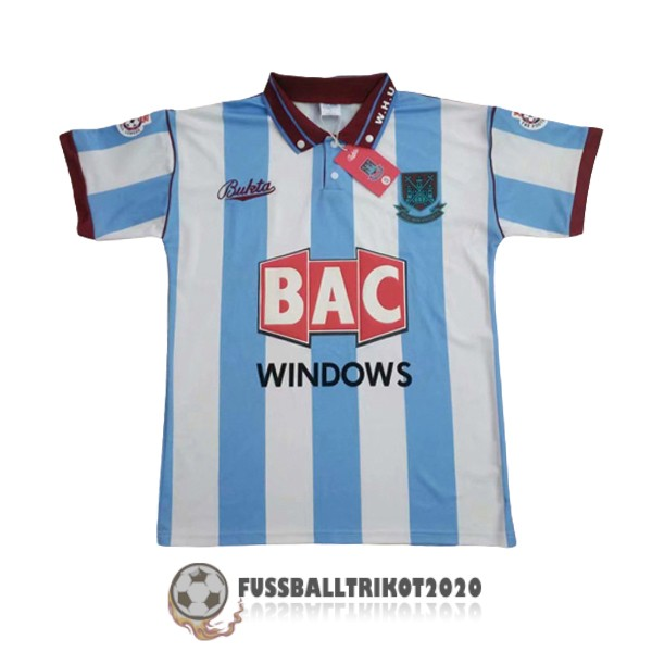trikot west ham united 1991-1992 auswarts retro