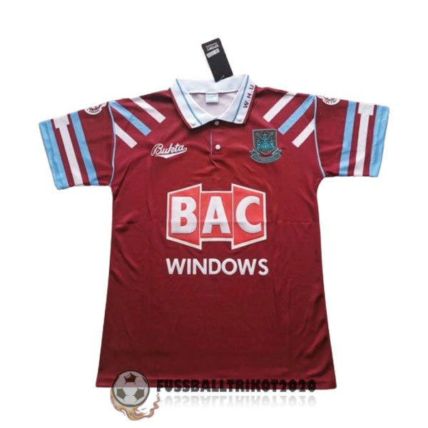 trikot west ham united 1991-1992 heim retro